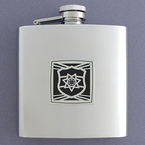 Stainless Steel Police Officer Flask 6 Oz. Polished