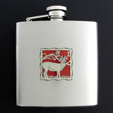 Deers Antlers 6 Oz Drinking Flasks