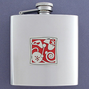 Mid-Century Retro 6 Oz Drinking Flasks