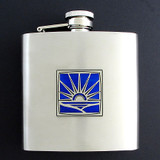 Rising Sun 6 Oz Drinking Flasks