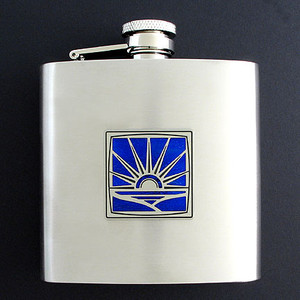 Rising Sun 6 Oz Drinking Flasks