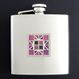 Quilt Drinking Flask 6 Oz