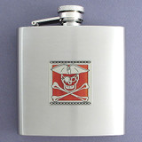 Pirate Flask - 6oz Satin