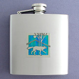 Unique 6 Oz Wolf Drinking Flasks