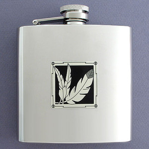 Unique 6 Oz Three Feathers Drinking Flasks