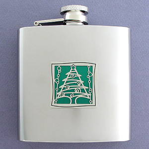 Christmas Tree Drinking Flask 6 Oz.