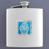 Cupcake Drinking Flasks 6 Oz