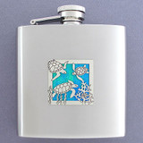 Unique 6 Oz Sea Turtle Drinking Flasks