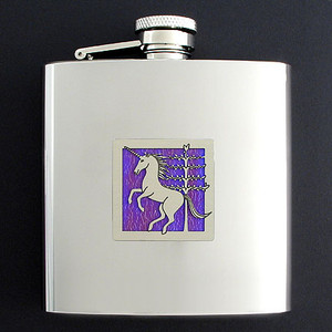 Unicorn Inspired 6 Oz Drinking Flasks