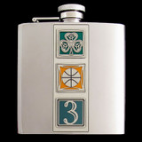 "6 Oz. Boston ""Big Three"" Celtics Stainless Steel Flask"