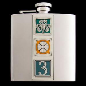 "6 Oz. Boston ""Big Three"" Celtics Stainless Steel Flask"