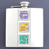 6 Oz. Vices Flasks With Cars, Drinking & Gambling