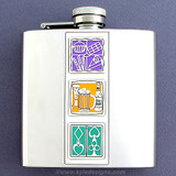 Fat Tuesday Carnival Indulgence 6 Oz. Flasks