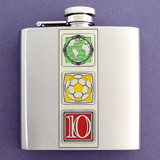 2010 6 Oz. World Cup Soccer Flasks