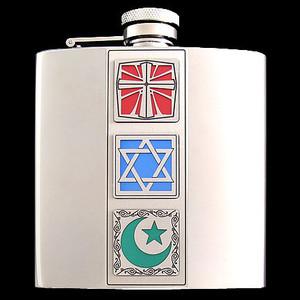 Muslim Christian Jewish 6 Oz. Flasks