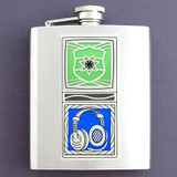 8 Oz Stainless Steel Police Dispatcher Flask