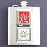 Red Queen vs. White Queen 8 Oz Flask