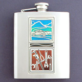 Auto Mechanic Flask in Stainless Steel, 8 Oz.