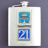 21st Birthday Flask 8 Oz