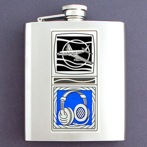 8 Oz Airline Pilot Flask in Stainless Steel