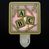Alphabet Blocks Nursery Night Light