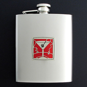 Dry Martini Flasks 8 Oz. Stainless Steel
