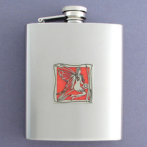 Exquisite Fairies Flasks in 8 Oz. Stainless Steel