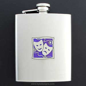 Drama Flasks 8 Oz. Stainless Steel
