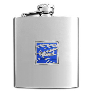 Airplane Pilot Flasks in 8 Oz. Stainless Steel