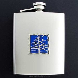 Tree of Life Flask 8 Oz. Stainless Steel