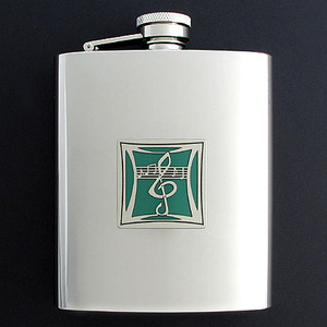 Music Theory Flasks 8 Oz. Stainless Steel