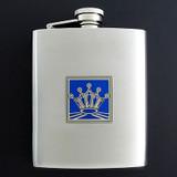 8 Oz. King or Queen Flasks in Crown Design