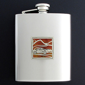 Sports Car Flask 8 Oz. Stainless Steel