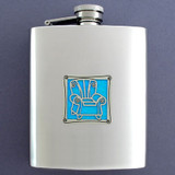 Reclining Chair Flasks in 8 Oz. Stainless Steel