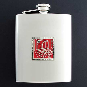 Laptop Flasks in 8 Oz. Stainless Steel