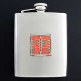 Personalized Crewing Flask 8 Oz. Stainless Steel