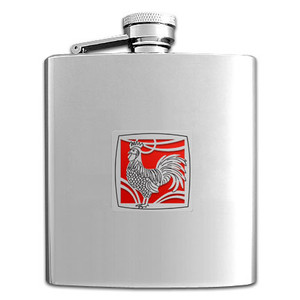 Rooster Flasks 8 Oz. Stainless Steel