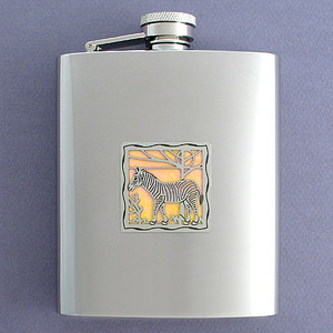 Zebra Flask in 8 Oz. Stainless Steel