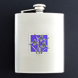 Bearded Irises Flasks 8 Oz. Stainless Steel