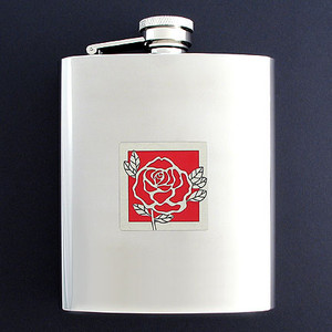Rose Flasks 8 Oz. Stainless Steel