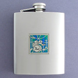 Drum Set Flask in 8 Oz. Stainless Steel