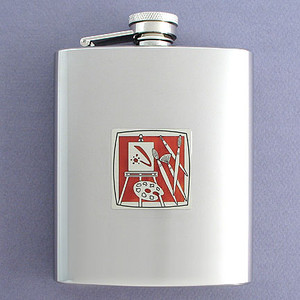 Artist Flask 8 Oz. Stainless Steel