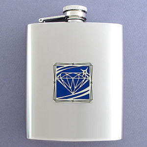 """""""Put A Ring On It"""" Flask 8 Oz. Stainless Steel"""