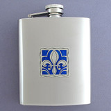 Fleur De Lis Flask in 8 Oz. Stainless Steel