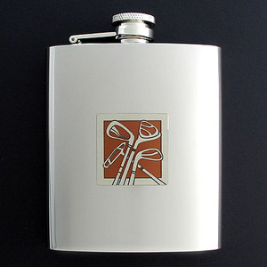 Stainless Steel Golf Flask 8 Oz. Mirror Finish