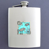 Sea Turtle Flask 8 Oz. Stainless Steel