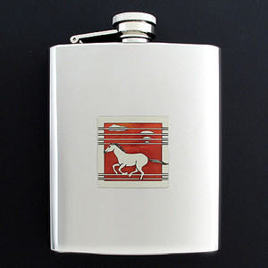 Stallion Flasks 8 Oz. Stainless Steel