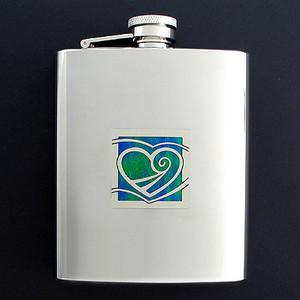 Heart Flasks 8 Oz. Stainless Steel