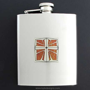 Christian Flasks in 8 Oz. Stainless Steel