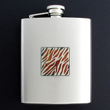 Stripped Flask 8 Oz. Stainless Steel